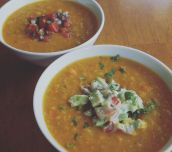 Red Lentil Soup with Fresh Salsa