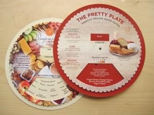 Pretty Cheese Plates paring wheel