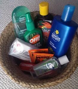 bug spray sunscreen