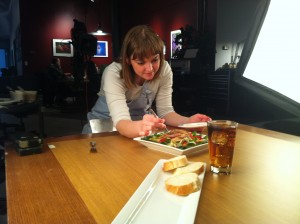 Rachel-working-on-food-in-studio