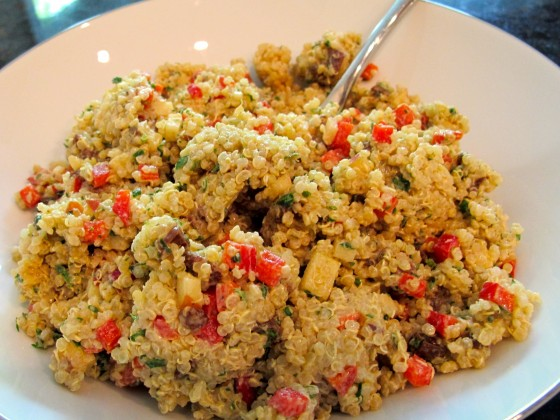 Sweet Quinoa Salad with Creamy Balsamic Dressing