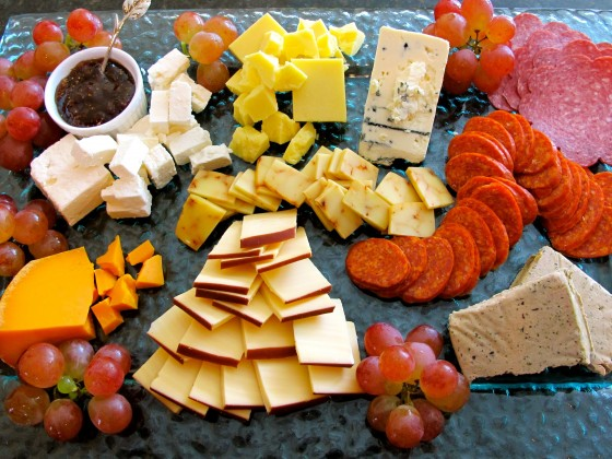 Assorted Thanksgiving Appetizers Plate