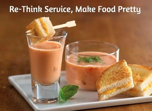 mini tomato soup and grilled cheese shooters