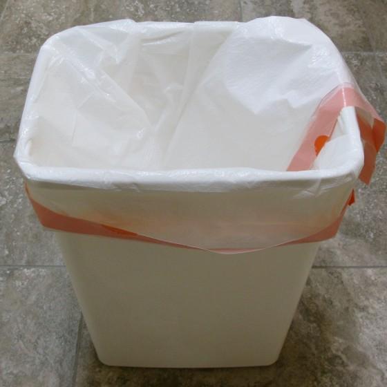 Double line trash bins