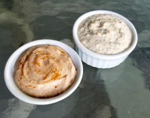 Non-Dairy Cashew Cream Ranch and Sweet Cinnamon flavors.