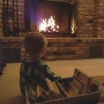 Nothing better than story time and snuggles by the fire. This one of our our most perfect, simple and loved family activities.