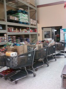 8 full carts of food for a live TV Segment