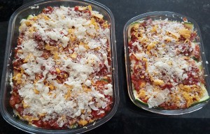Batch Meal, Zucchini noodle beef lasagna