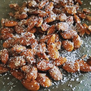 Crispy Coconut Almonds